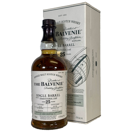 Balvenie 25 Year Old Single Barrel Traditional Oak Scotch Whisky