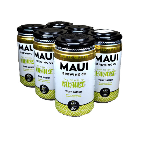 Maui / Crooked Stave Two Tickets To Paradise Tart Saison 6-Pack Can