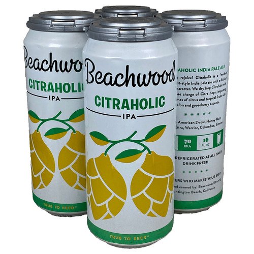 Beachwood Citraholic IPA 4-Pack Can