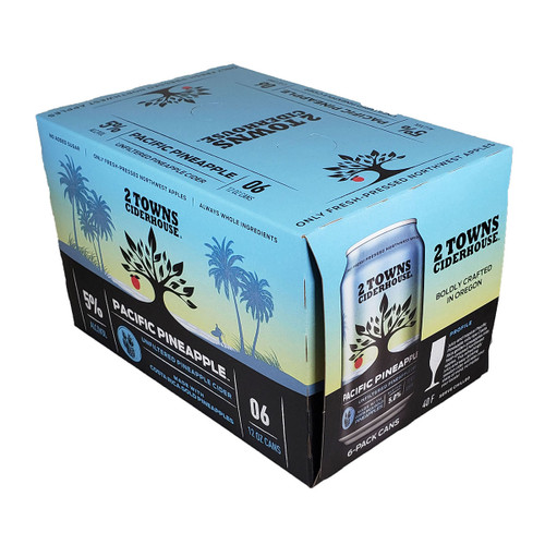 2 Towns Pacific Pineapple Cider 6-Pack Can