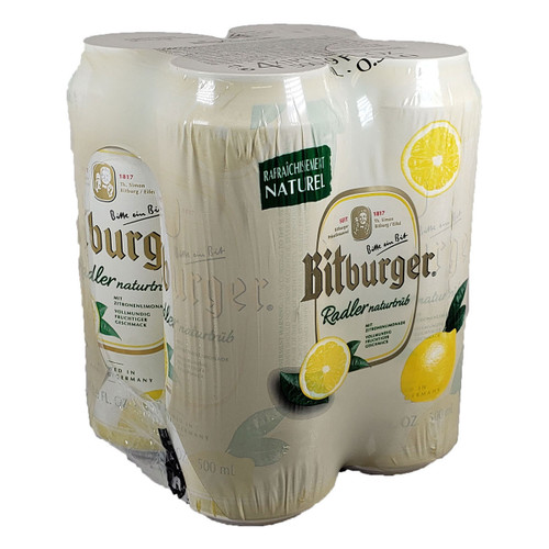 Bitburger Lemon Radler 4-Pack Can