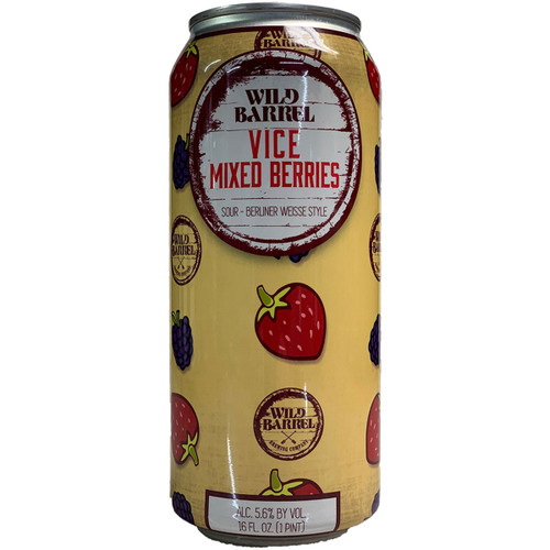 Wild Barrel Vice Mixed Berry Sour Ale Can