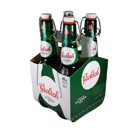 Grolsch Lager Flip Top Bottle 4-Pack