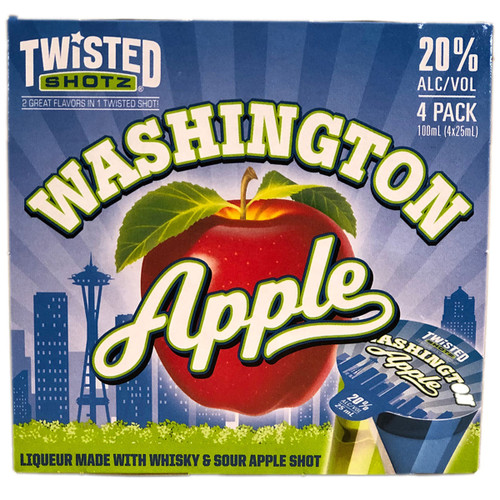 Twisted Shotz Washington Apple 4-Pack