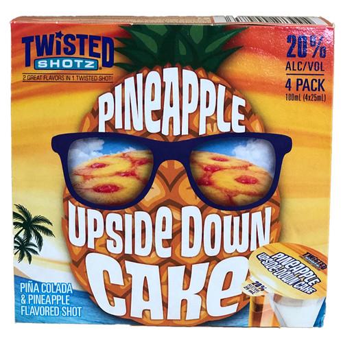 Twisted Shotz Pineapple Upside Down Cake 4-Pack
