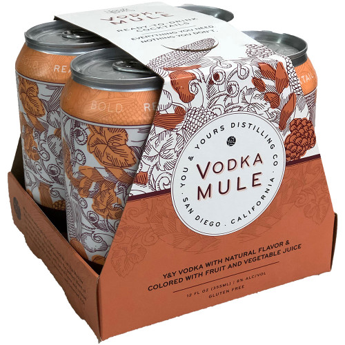 You & Yours Vodka Mule Ready-To-Drink Cocktail 4-Pack Can
