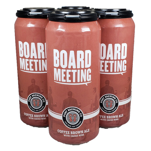 Port Brewing Board Meeting Coffee Brown Ale 4-Pack Can
