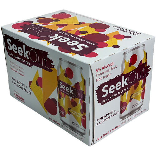 SeekOut Pineapple + Passion Fruit Selter 6-Pack Can