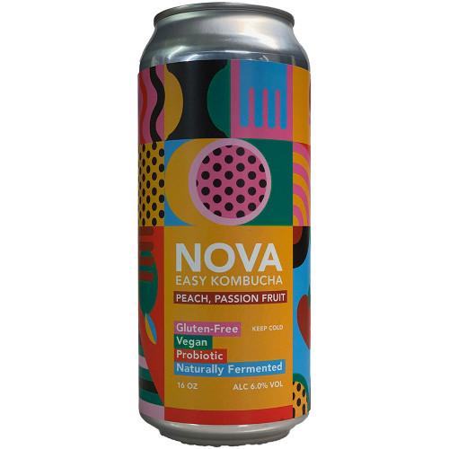 Nova Peach Passion Fruit Easy Kombucha Can