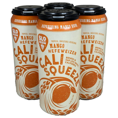 SLO Brew Mango Squeeze Mango Hefe 4-Pack Can