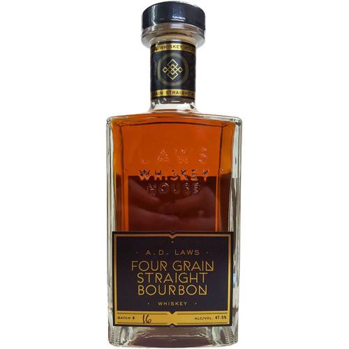 A D Laws Four Grain Straight Bourbon Whiskey