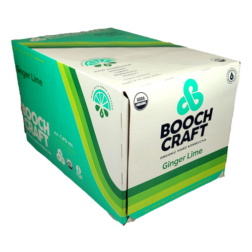 Boochcraft Ginger Lime Rosehips Kombucha 6-Pack Can