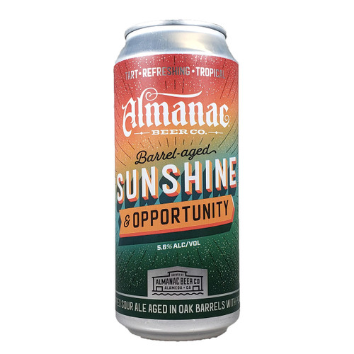 Almanac Barrel Aged Sunshine and Opportunity Dry-Hopped Sour Ale Can