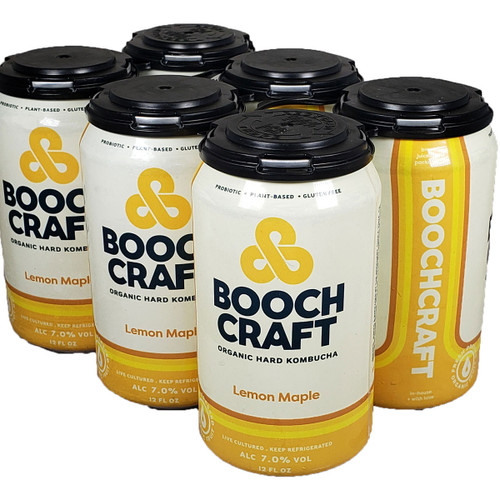 Boochcraft Lemon Maple Thyme Kombucha 6-Pack Can
