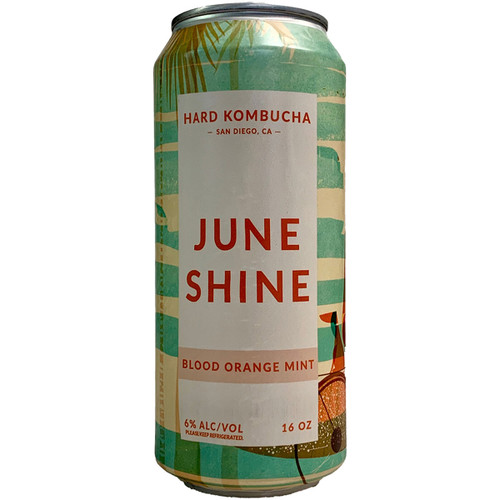 JuneShine Blood Orange Mint Kombucha Can 16OZ