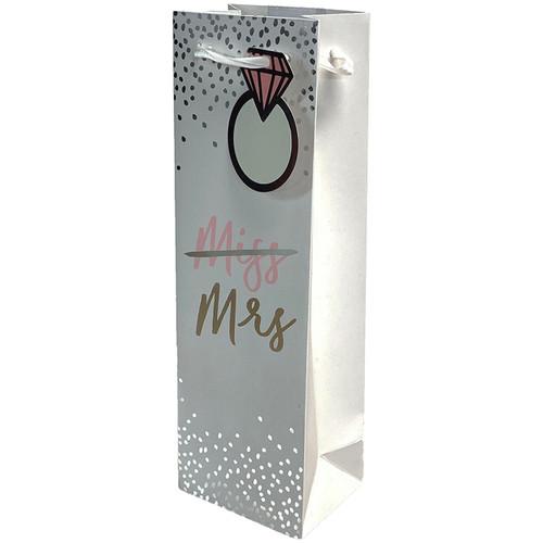 Miss To Mrs Single-Bottle Wine Bag