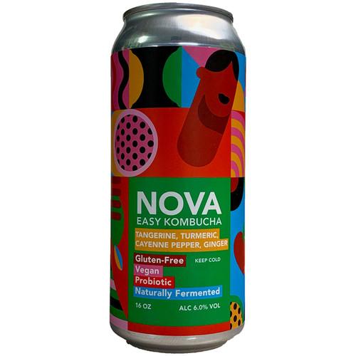 Nova Tangerine Turmeric Cayenne Pepper Ginger Easy Kombucha Can