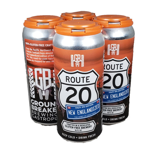 Ground Breaker Gluten Free Route 20 IPA 4-Pack Can