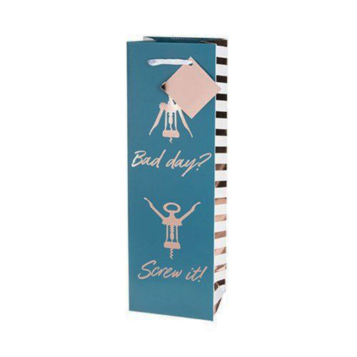 Bad Day Screw It Single-Bottle Wine Bag