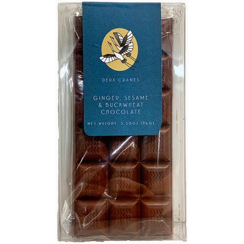 Deux Cranes Ginger Sesame Buckwheat Chocolate