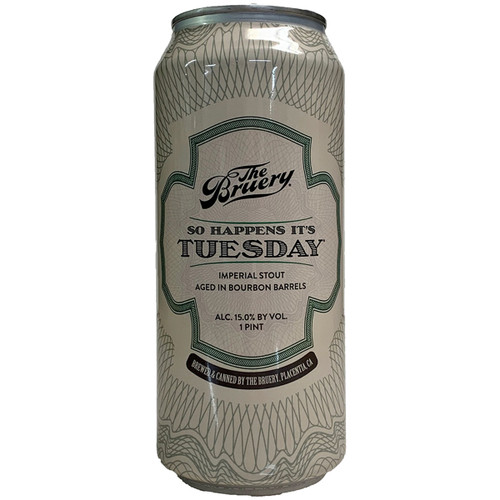 The Bruery So Happens It's Tuesday Bourbon Barrel Aged Imperial Stout Can