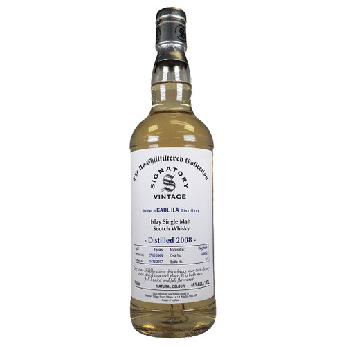 Signatory Un-Chillfiltered Collection Caol Ila 2008 9 Year Single Malt Scotch Whisky