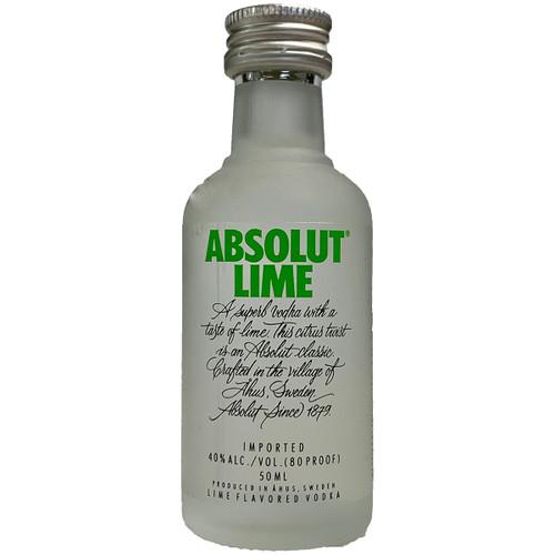 Absolut Lime Flavored Vodka Mini