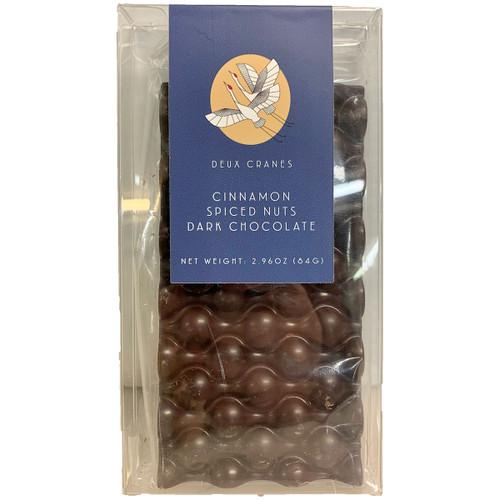 Deux Cranes Cinnamon Spiced Nuts Dark Chocolate