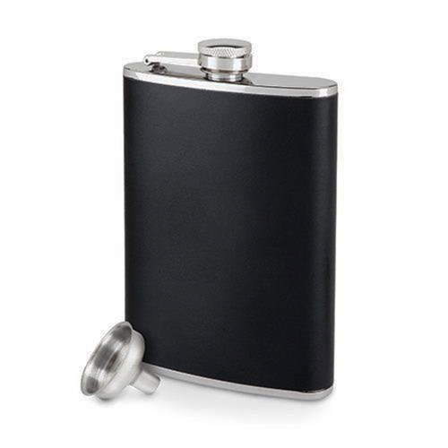 Monte Carlo Leather Flask 8oz