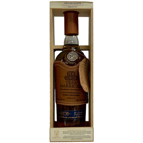 Tres Barricas Triple Cask Matured Limited Edition Anejo Tequila