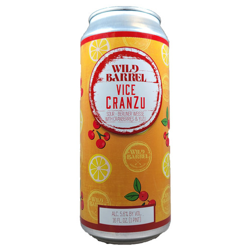 Wild Barrel Vice Cranzu Berliner Weisse Style Sour Ale Can