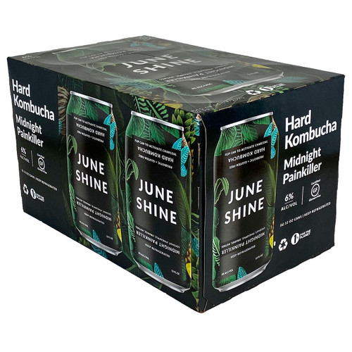 JuneShine Midnight Painkiller Kombucha 12OZ 6-Pack Can