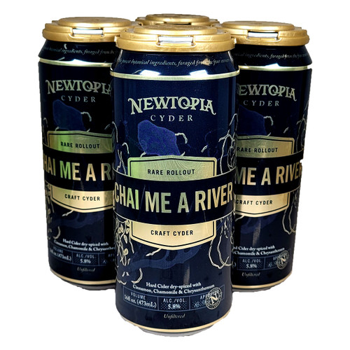 Newtopia Chai Me A River Craft Cyder 4-Pack Can