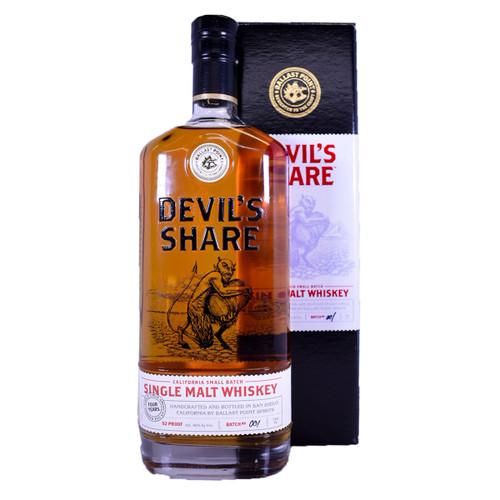 Ballast Point Devil's Share Single Malt Rye Whiskey Batch #001