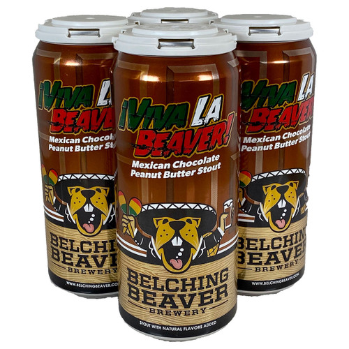 Belching Beaver Viva La Beaver! Mexican Chocolate Peanut Butter Stout 4-Pack Can