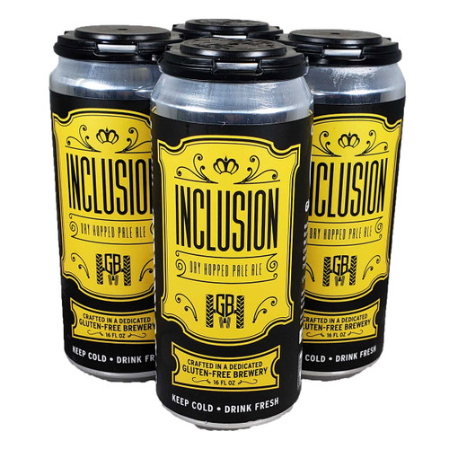 Ground Breaker Gluten Free Inclusion Dry Hopped Pale Ale 4-Pack Can