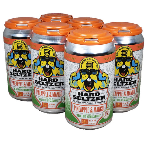 Belching Beaver Pineapple & Mango Hard Seltzer 6-Pack Can