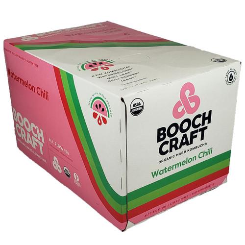 Boochcraft Watermelon Chili Kombucha 6-Pack Can