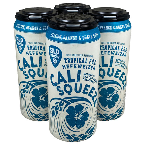 SLO Brew Tropical P.O.G. Cali Squeeze Hefeweizen 4-Pack Can
