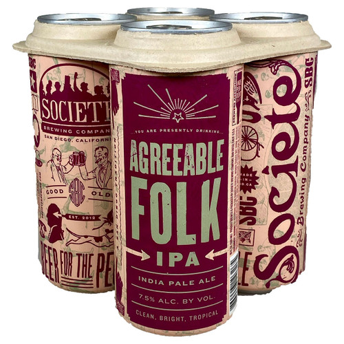 Societe Agreeable Folk IPA 4-Pack Can