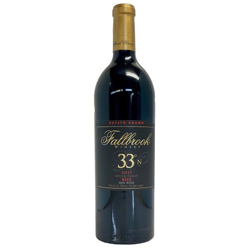 Fallbrook 2017 33 Degrees North BDX Bordeaux Blend