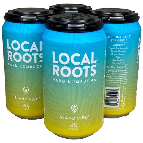 Local Roots Island Vibes Hard Kombucha 12OZ 4-Pack Can