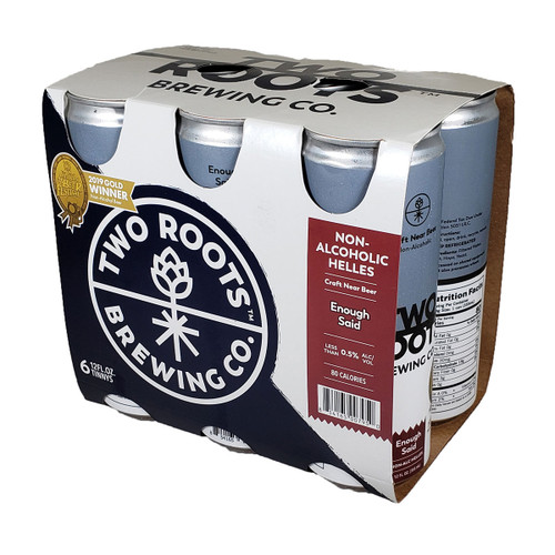 Two Roots Enough Said Non-Alcoholic Helles 6-Pack Can