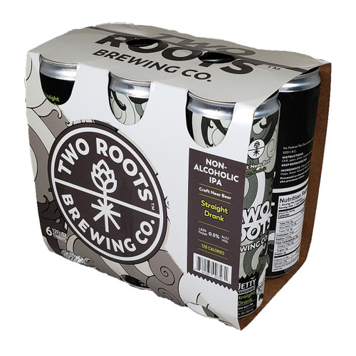 Two Roots Straight Drank Non-Alcoholic IPA 6-Pack Can