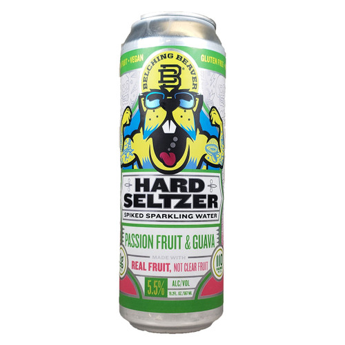 Belching Beaver Passion Fruit and Guava Hard Seltzer 19.2OZ Can