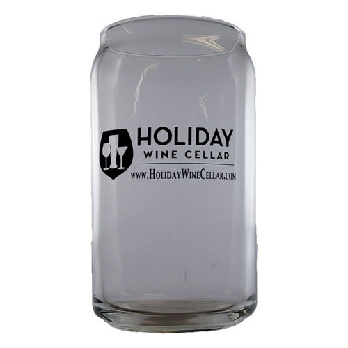 Holiday Wine Cellar Beer Can Glass