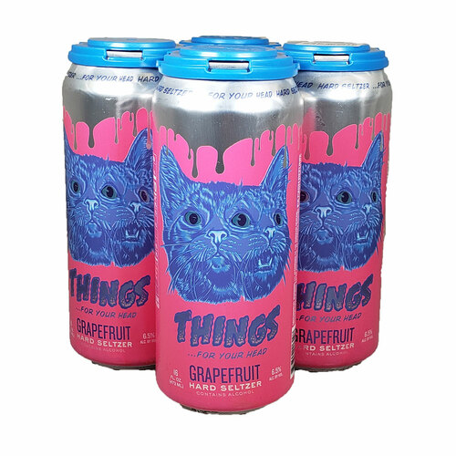 Things ... For Your Head Grapefruit Seltzer 4-Pack Can