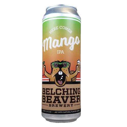 Belching Beaver Here Comes Mango IPA 19.2oz Can