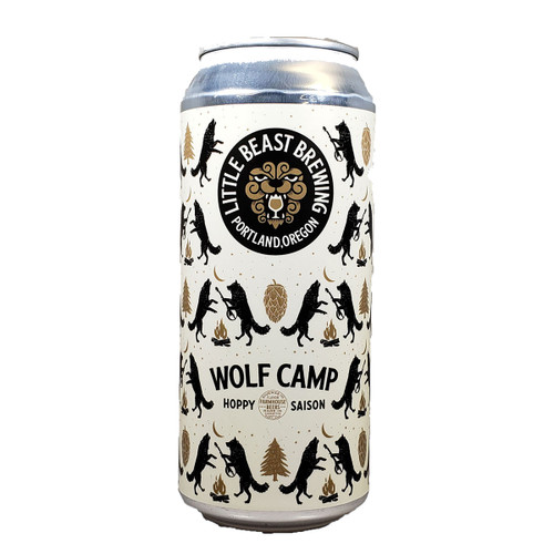 Little Beast Wolf Camp Hoppy Saison Can