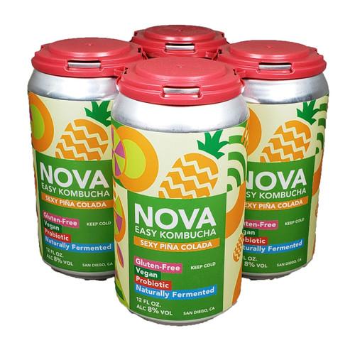 Nova Sexy Pina Easy Kombucha 4-Pack Can